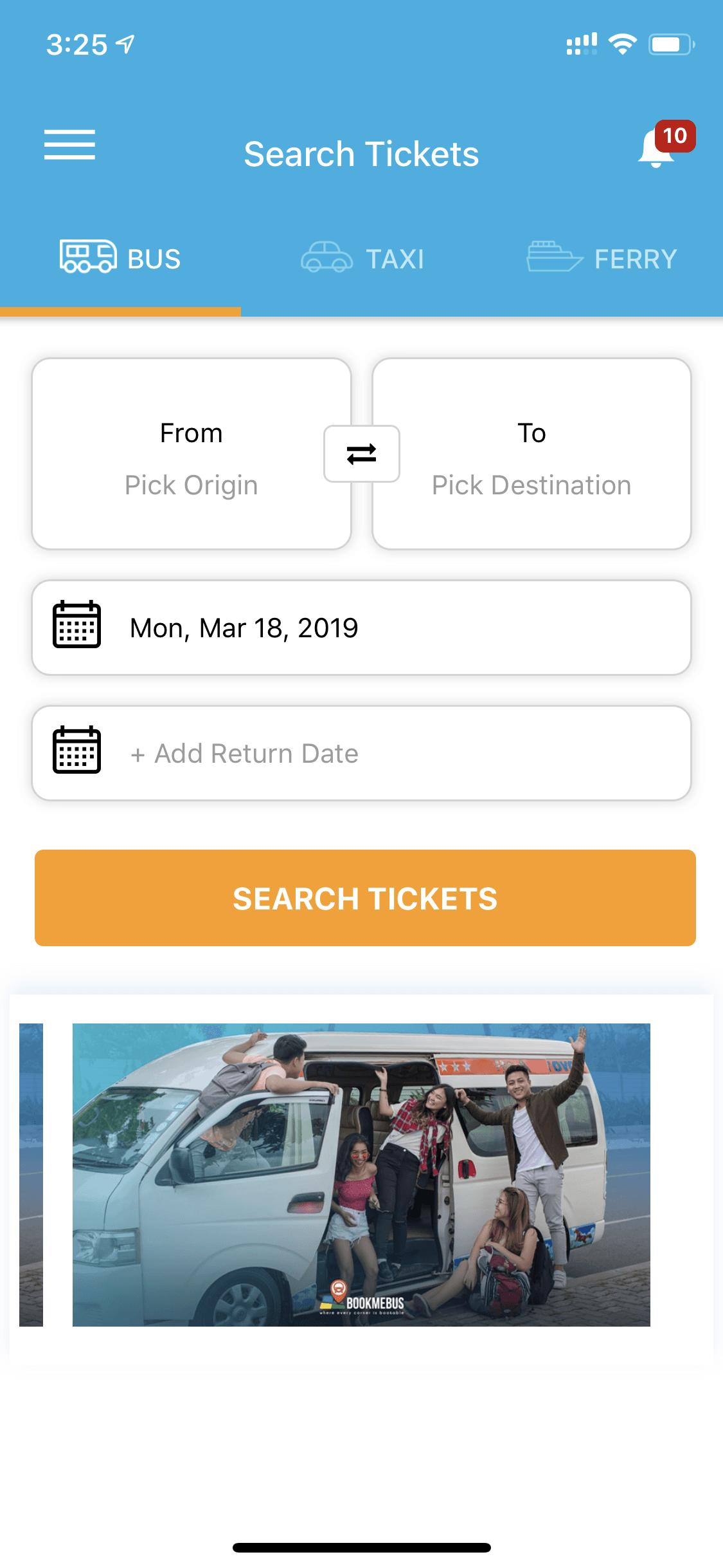 Intro search bus